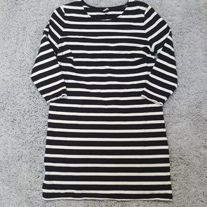 [Old Navy] Black & White Striped Tee Shirt Dress
